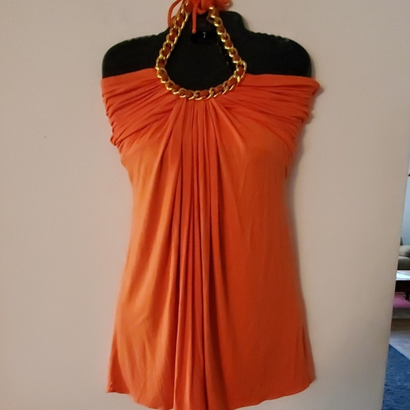 Sky Dresses & Skirts - Sky Orange Halter Top Dress - XS